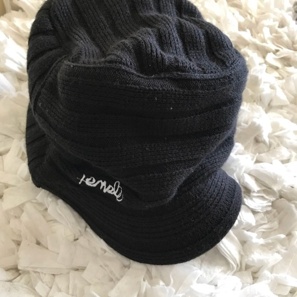 ae89e4cbd7875d Templeffectives Accessories | Ribbed Knit Black Bill Hat Beanie Cap ...